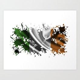 Irish Splatter Art Print