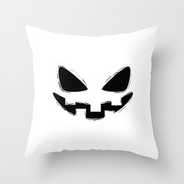 Pumpkin Spice Grin Throw Pillow