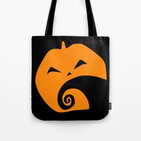 nightmare before christmas Tote Bags featuring The Nightmare before Christmas by Citron Vert