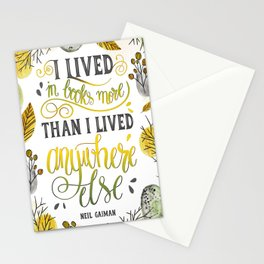 I LIVED IN BOOKS Stationery Cards