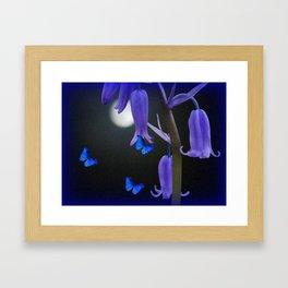 Abstract Bluebells Framed Art Print