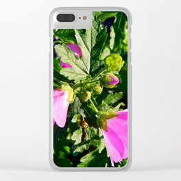 Pink Musk Mallow in September Clear iPhone Case