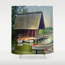 The Lake House Shower Curtain