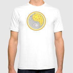fare SMALL White Mens Fitted Tee