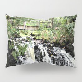 Bridge Over Waterfall Pillow Sham