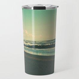 Dark Sand Beach Travel Mug