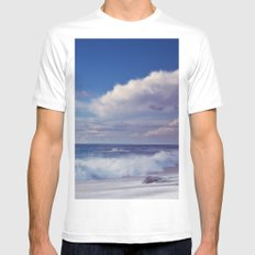 Cool Breeze Mens Fitted Tee MEDIUM White