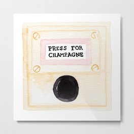 Press For Champagne Metal Print