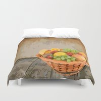 fruit Duvet Covers featuring fruit by Shea33