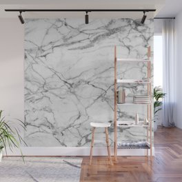 White Marble Stone Wall Mural