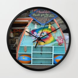 Beach Bum Cafe Wall Clock
