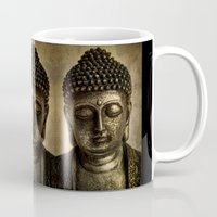 meditation Mugs featuring Meditation by inkedsandra
