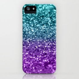 Purple Teal MERMAID Girls Glitter #1 #shiny #decor #art #society6 iPhone Case