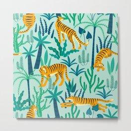 Leopard Jungle Metal Print