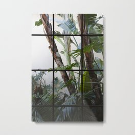 Window Garden Metal Print