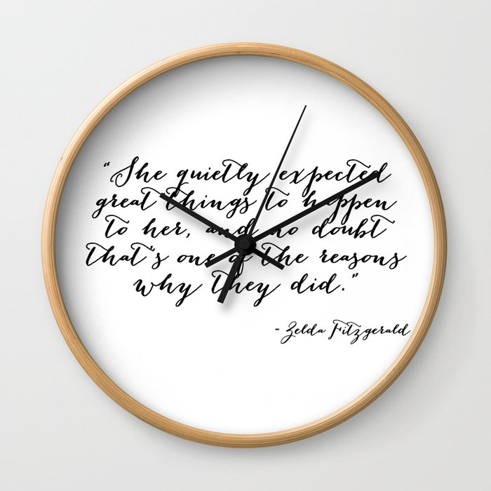 She quietly expected great things Wall Clock