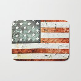 Painted Stars And Stripes Bath Mat