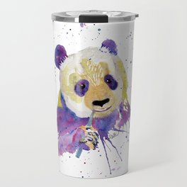 Purple Panda Bear Travel Mug