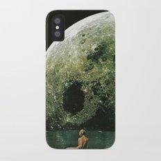 Quel giorno che arrivò la luna al lago mi stavo facendo il bidet iPhone X Slim Case