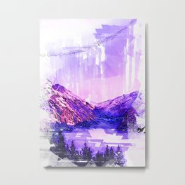 Berner Oberland Switzerland Foggy Mountain. For Foggy Forests & Mountain Lovers. Metal Print