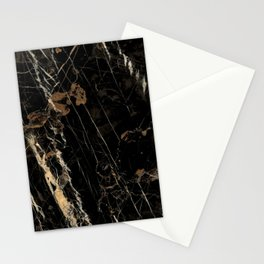 Marble Gold and Black  Stationery Cards