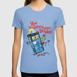 How the Grinch Stole Dr Who (on Light) T-shirt