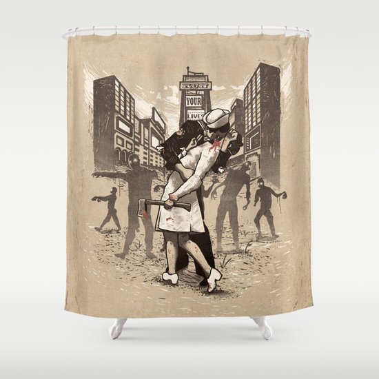 Zombies Shower Curtain By Ronan Lynam