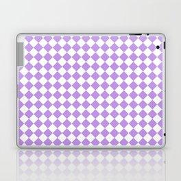 Small Diamonds - White and Light Violet Laptop & iPad Skin