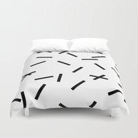 confetti Duvet Covers featuring Confetti by Caitlin Workman