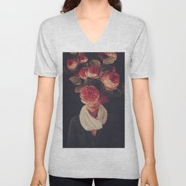 The smile of Roses Unisex V-Neck
