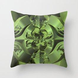 Cool Green of Summer Throw Pillow