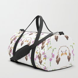 Pattern of forest fruits and flowers Duffle Bag