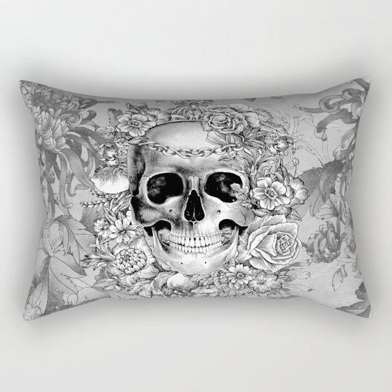 Natural Death BW Rectangular Pillow