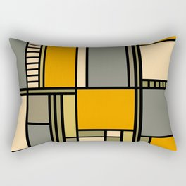 Frank Lloyd Wright Inspired Art Rectangular Pillow