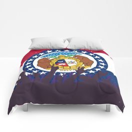 Missouri State Flag with Audience Comforters