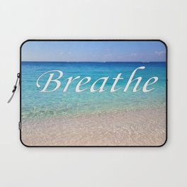Breathe Cayman Relaxing Beach Waves Laptop Sleeve