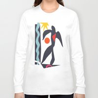 matisse Long Sleeve T-shirts featuring inspired to Matisse (black) by Chicca Besso