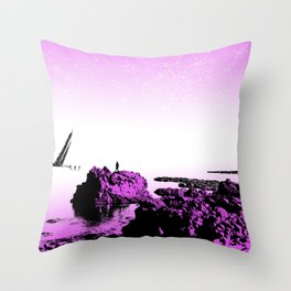 Crash on the Horizon Throw Pillow