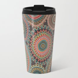 Boho Patchwork-Vintage colors Travel Mug