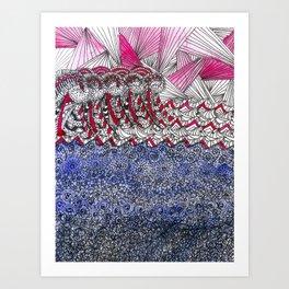 The angry sea Art Print