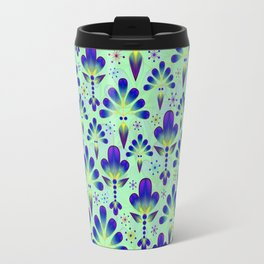 Purple Florets Travel Mug