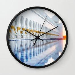 Abu Dhabi Sunset Wall Clock