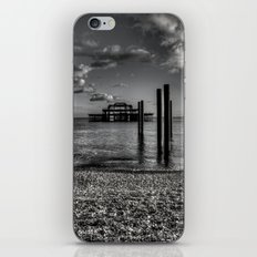 West pier in black and white iPhone & iPod Skin