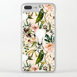 Floral bohemian pattern Clear iPhone Case