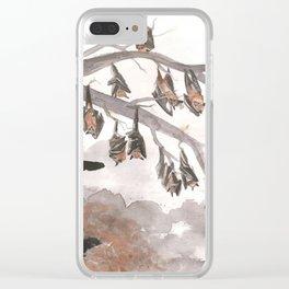 Thirteen Bats Clear iPhone Case