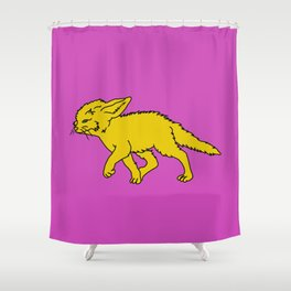 The Sly Fennec Fox Shower Curtain