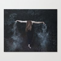 "witchcraft Canvas Prints featuring ""witchcraft"" by Sonja Lovdal"