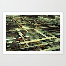 3D poster Art Print