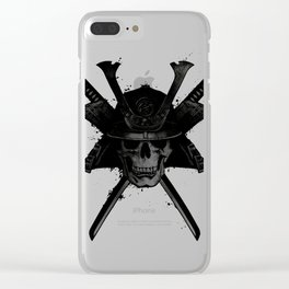 Samurai Skull Clear iPhone Case