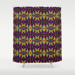Yellow And Purple Mosaic Shower Curtain